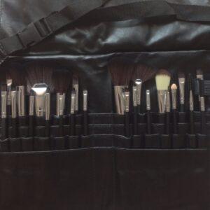Makeup Brush Set Pro Adv 24Pc in Apron Belt Strap Bag