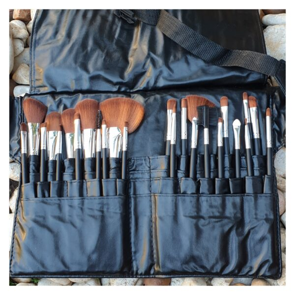 Makeup Brush Set Pro Adv 24Pc in Apron Belt Strap Bag