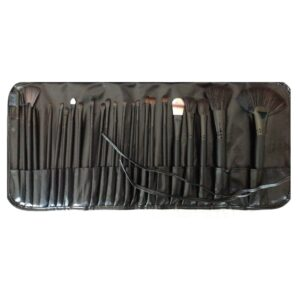 Makeup Brush Set Professional 24 Pcs Black