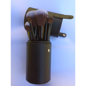 Makeup Brush Set 12pc with Cylinder Holder Case
