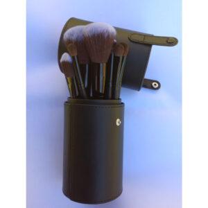 Makeup Brush Set 12pc with Cylinder Holder Case