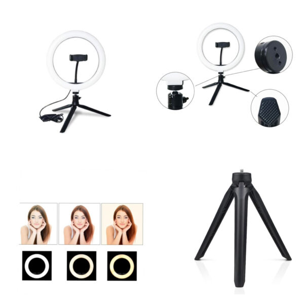 Selfie Ring Light 26cm Table Stand