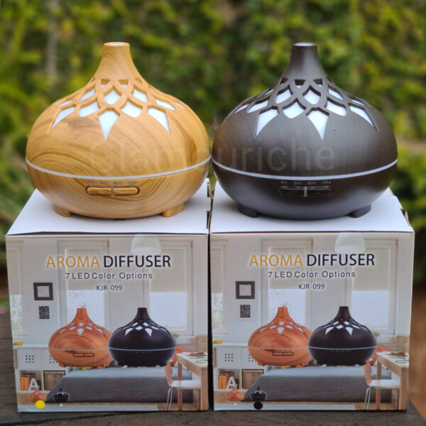Aroma Diffuser 7 LED Colour 400ml Wood Look